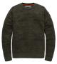 A PME Legend kerek nyakú férfi pulóver sötét keki árnyalatú,koptatott mintázatú modell.